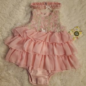 Infant Girls Dress w/Headband